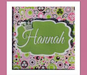 Personalized Child's Name - 3D Wall Art - FRAMED